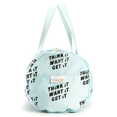 work it out gym bag - think it want it get it - side