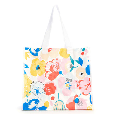 reusable shopping tote bag - mega blooms floral