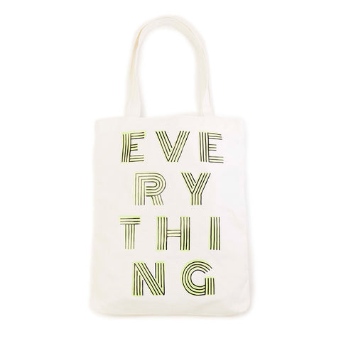 natural canvas tote bag - everything