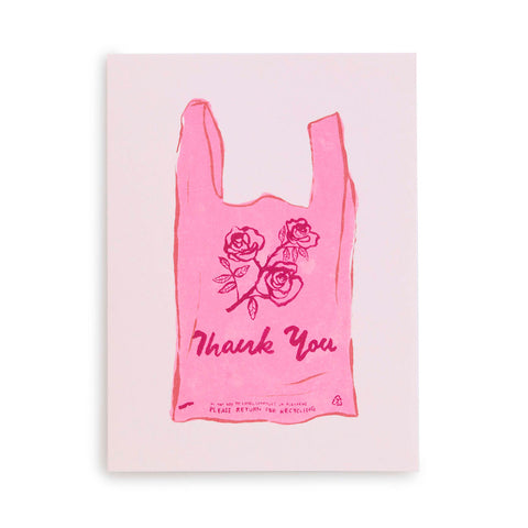 thank you card set - thank you bag