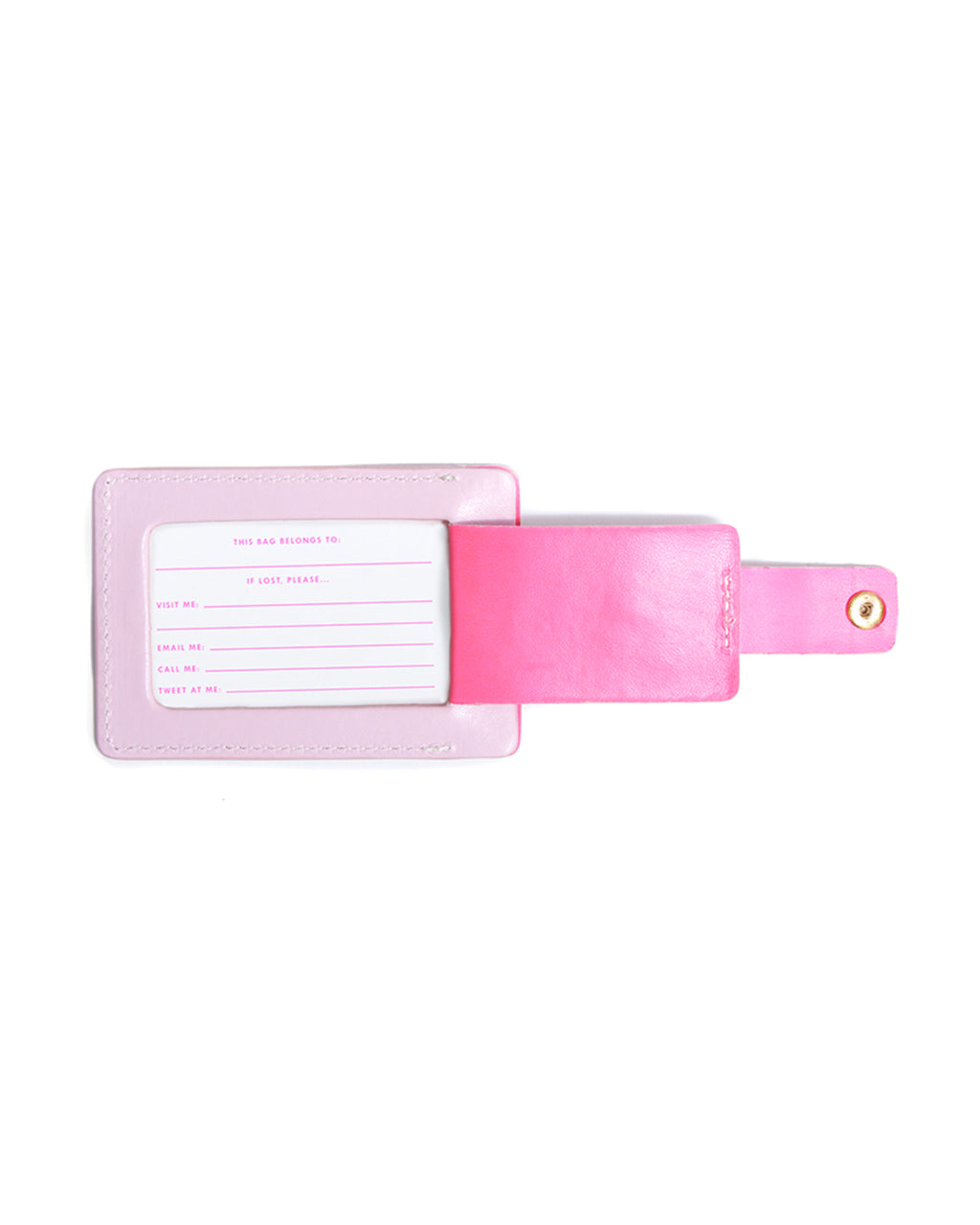 Includes a pink-printed insert for contact info.
