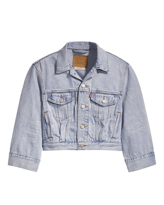 light wash blue jean jacket