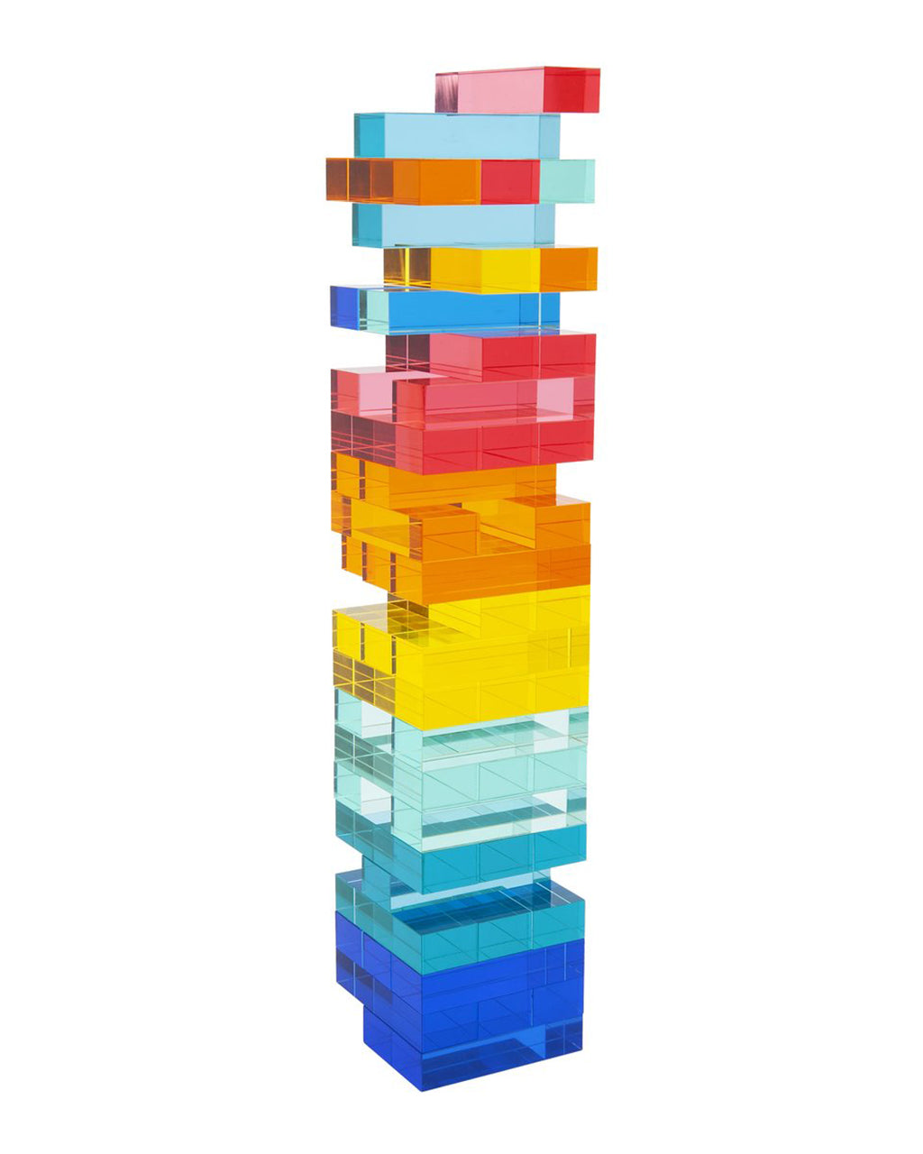 lucite multi color tower game