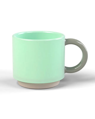 mint mug with a grey handle