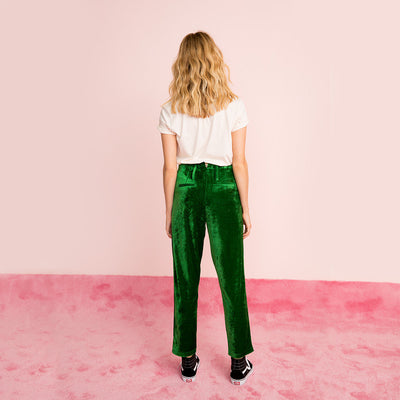 Pants - Beauvoir Pants - Green Velvet