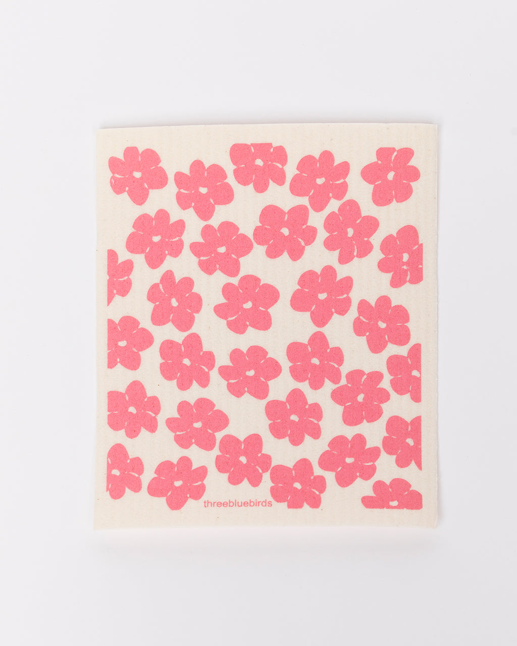pink poppy dishcloth
