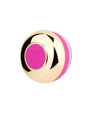 pink and gold shower speaker