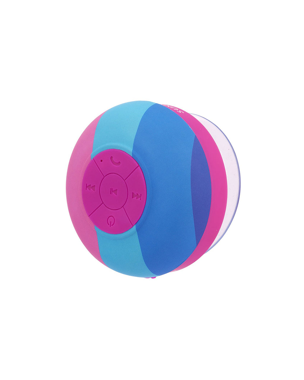 pink and blue rainbow shower speaker