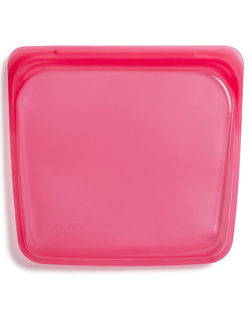 raspberry colored sandwich storage