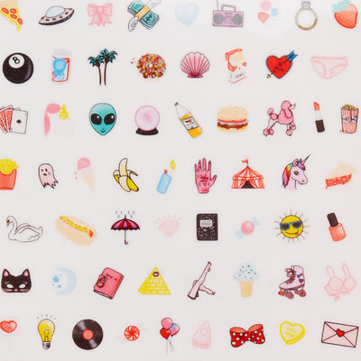 crazy cute nail decals
