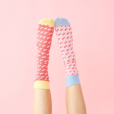 Socks - Mertl Socks - Pink And Red