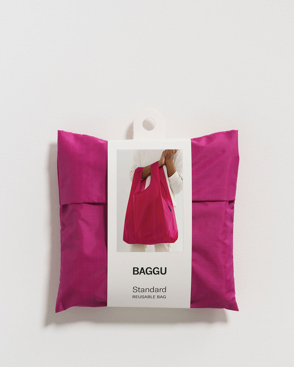 magenta baggu shown in packaging