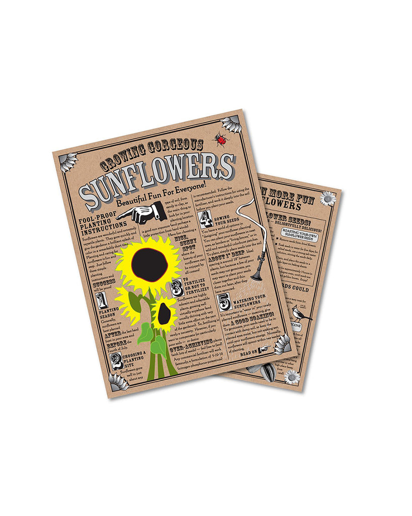 sunflower seed grow kit information card