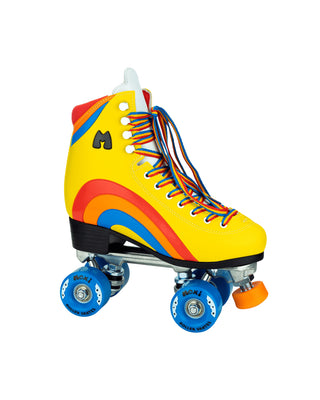 yellow rainbow roller skates