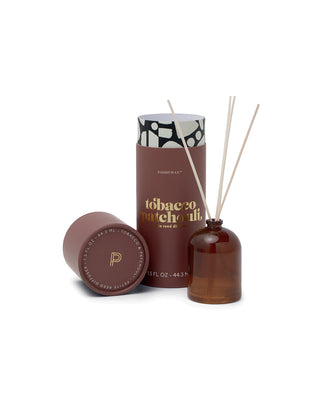 petite diffuser with a brown cylinder packaging