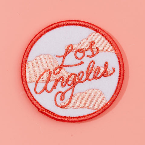 embroidered iron on los angeles patch