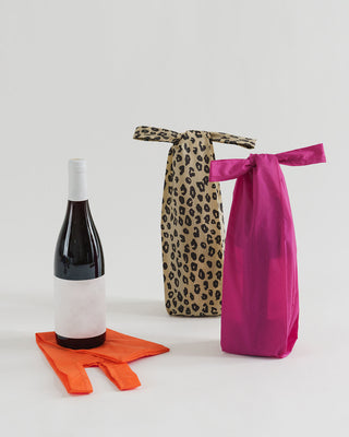 sunset leopard pattern set of 3 wine bags