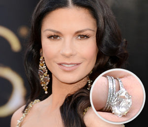 catherine zeta jones engagement ring