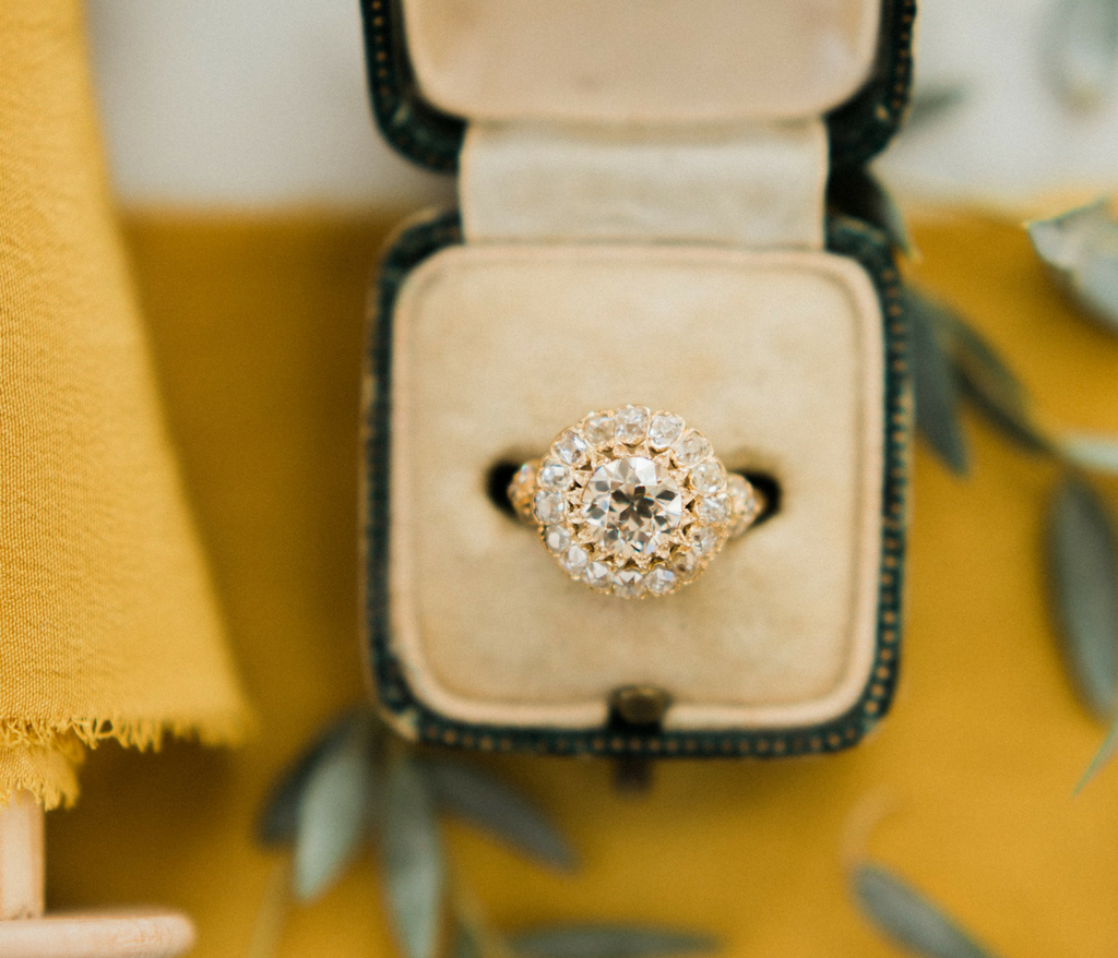 Vintage Cluster Engagement Ring