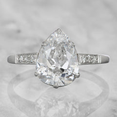 antique pear cut diamond engagement ring