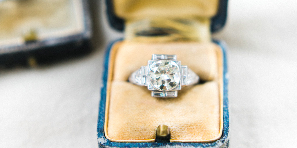 coco vintage engagement ring