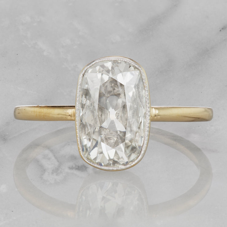 1.28 Carat Old Mine Cut Cushion Diamond