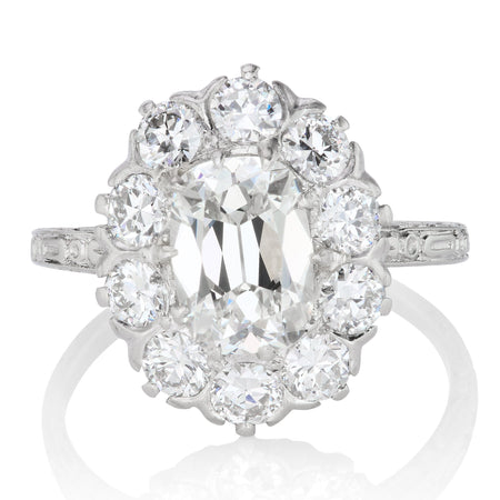 1.56ct antique cushion diamond
