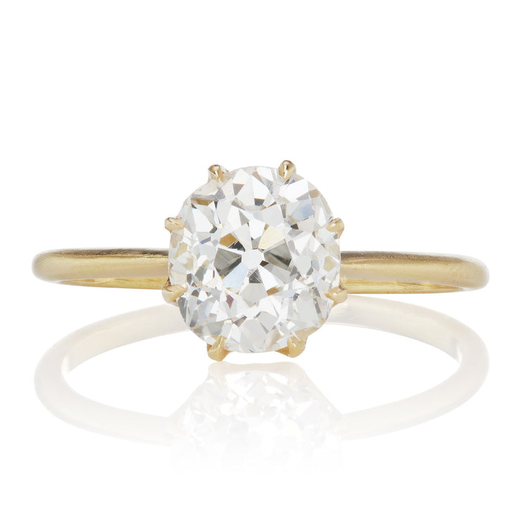1.78ct old mine cut diamond Old Mine Cut Diamond Engagement Ring