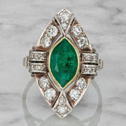 1.98 Carat Marquise Cut Colombian Emerald