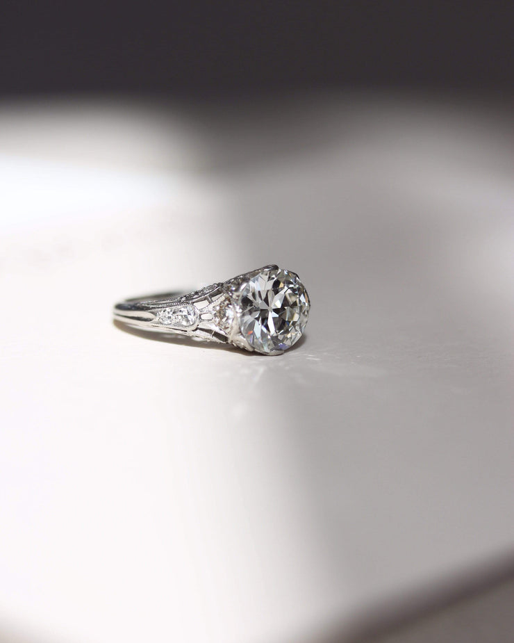 2.01ct old European cut diamond