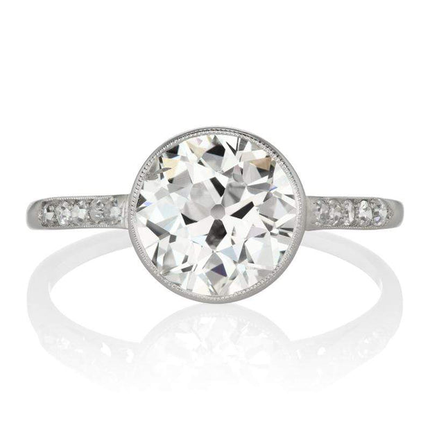 Art Deco Bezel Set Diamond Engagement Ring