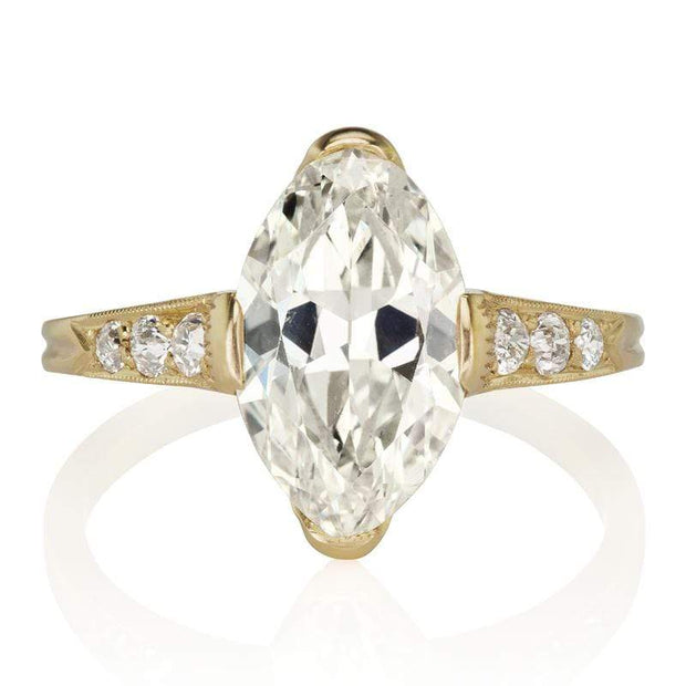 2.52 carat Marquise Diamond in Yellow Gold Setting