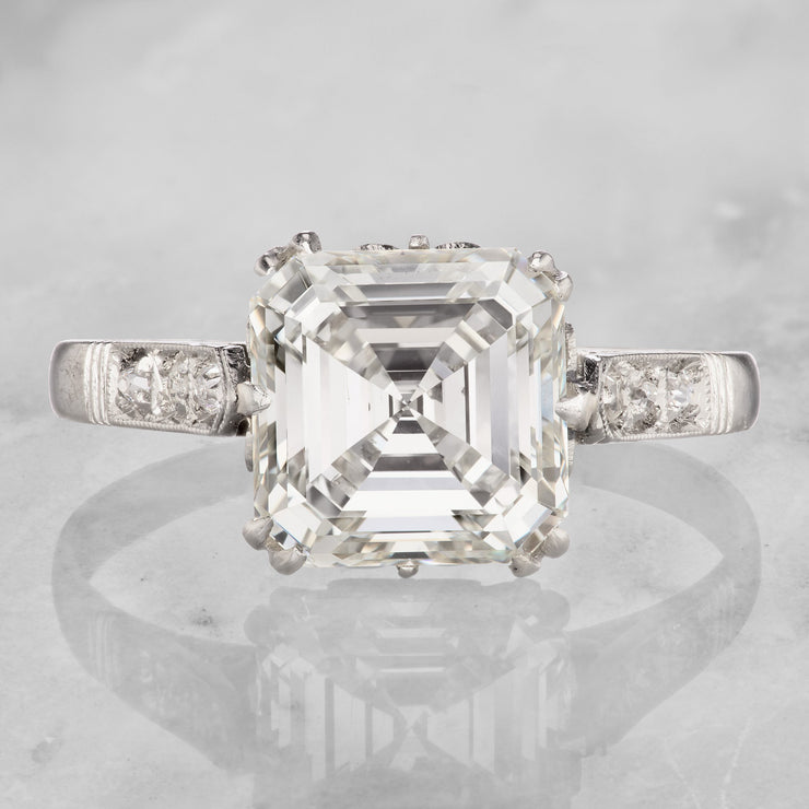 3.02 Carat Asscher Cut Diamond