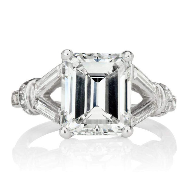 3.50ct emerald cut diamond