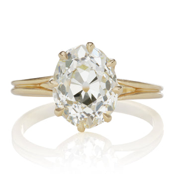 3.52ct Oval Diamond 3.5 Carat Oval Engagement Ring
