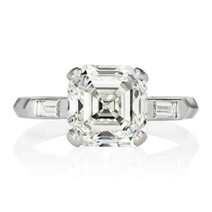 3.59ct Asscher cut diamond