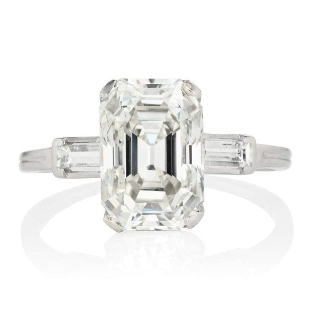 3.79ct Emerald cut diamond