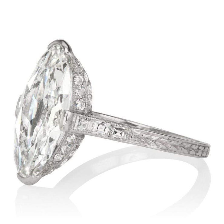 4.02ct Moval Diamond Large Moval Diamond Engagement Ring
