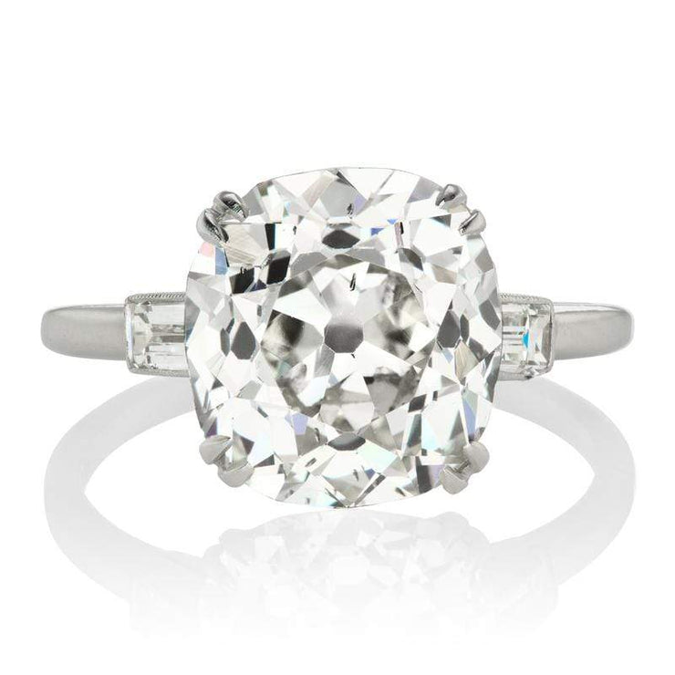 4.76ct Old Mine Cut Diamond Engagement Ring