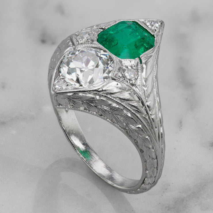 Colombian Emerald and Diamond