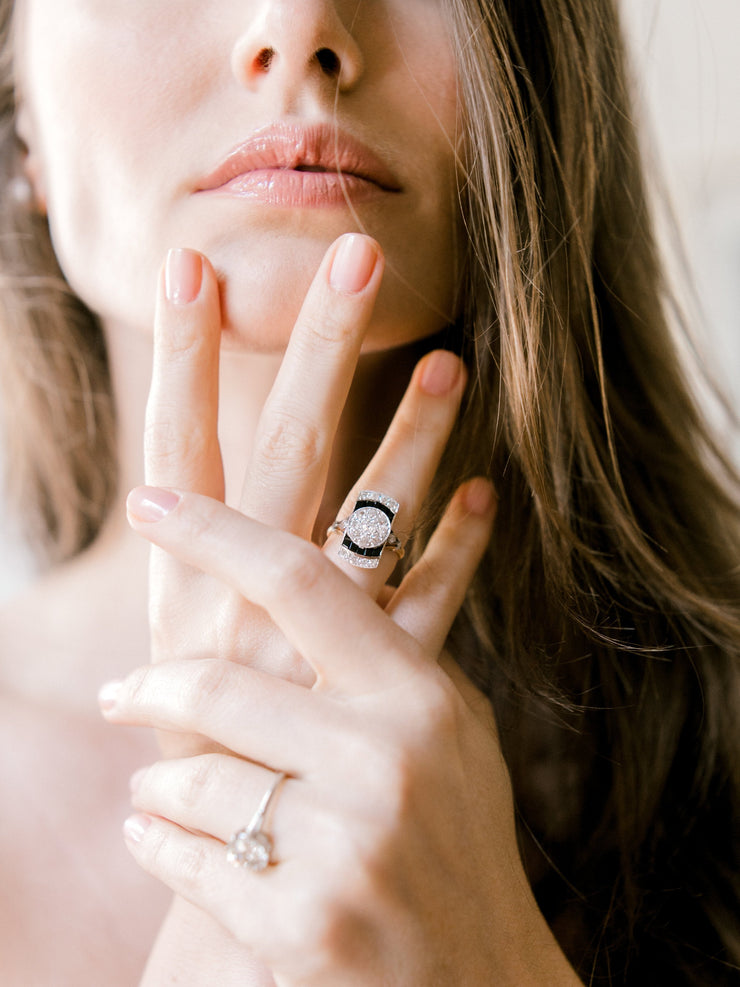 Diamond + Onyx Ring