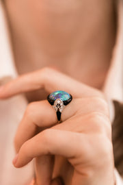 Opal Cocktail Ring Vintage Opal Cocktail Ring