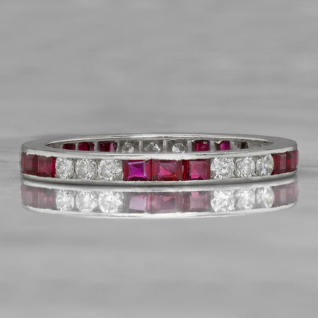 Ruby + Diamond Eternity Band
