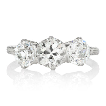 Tiffany & Co. Platinum Three Stone Engagement Ring