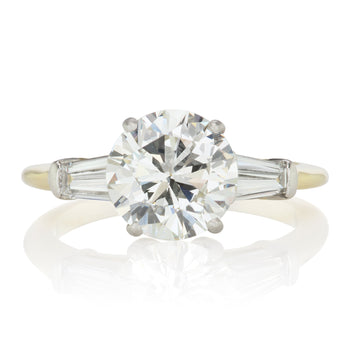 Tiffany & Co. Tiffany Round Diamond Engagement Ring With Tapered Baguettes