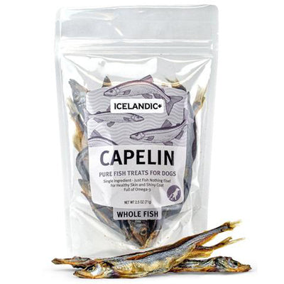Icelandic Capelin Whole Fish Treats