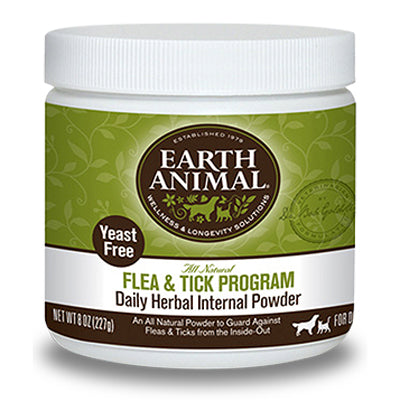 Earth Animal Flea & Tick Herbal Internal Powder - Yeast Free