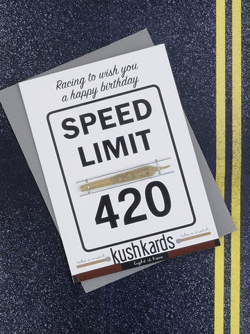 Speed Limit Birthday Greeting Card