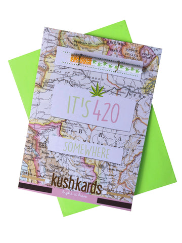 420 Greeting Card and One Hitter