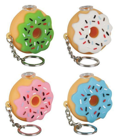 Silicone Donut One Hitter Keychain
